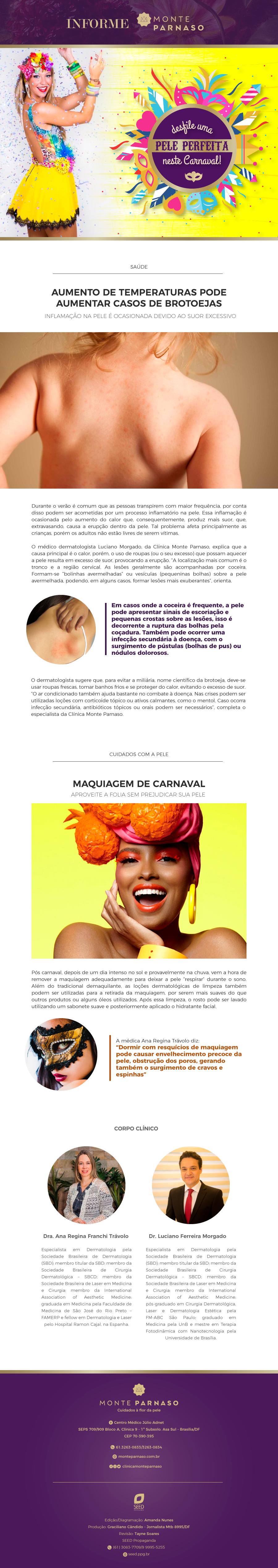 Newsletter Janeiro – Clínica Monte Parnaso